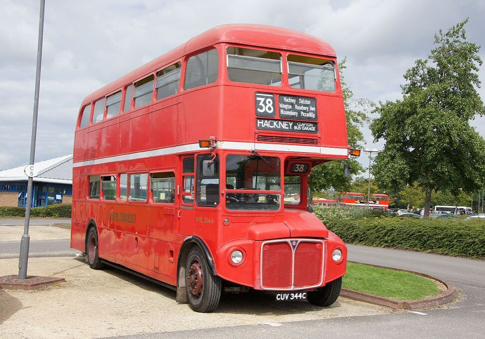 London bus on custom tour